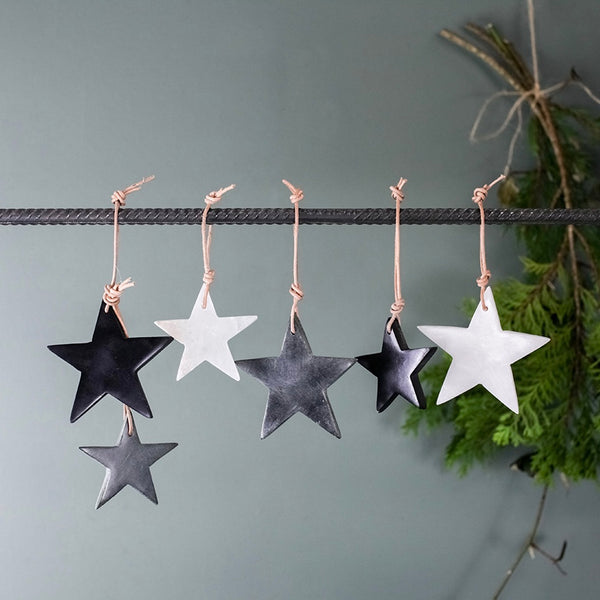 Marble Star Decorations [Set of 3]