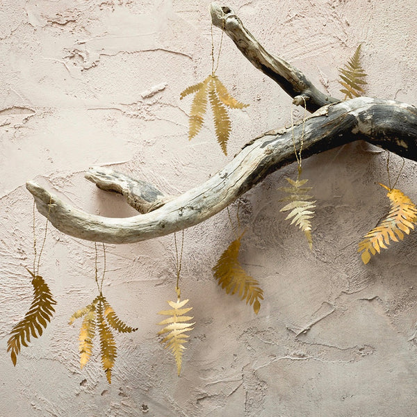 Brass Fern Sprig Decorations