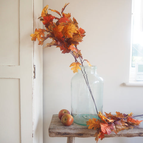 Faux Oak Leaf Stems