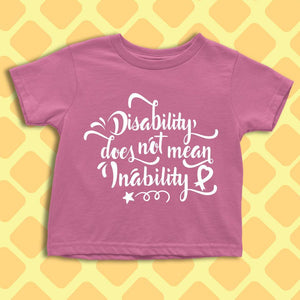 Disability does not mean Inability