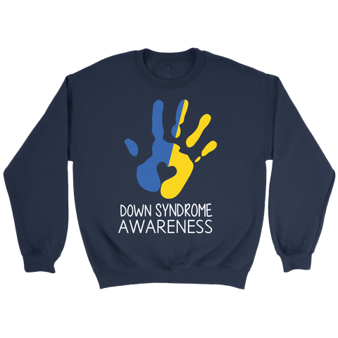 DOWN SYNDROME HAND PRINT