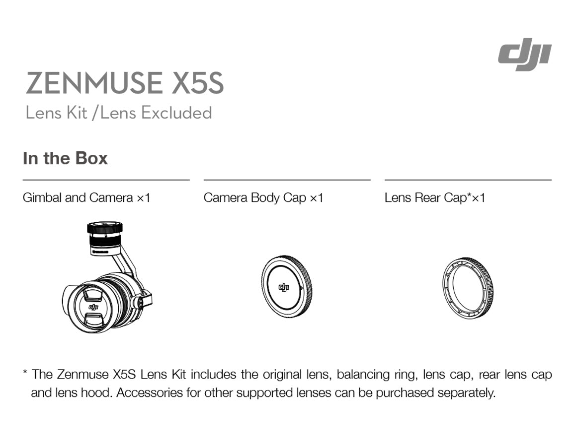 Zenmuse X5S - In the Box