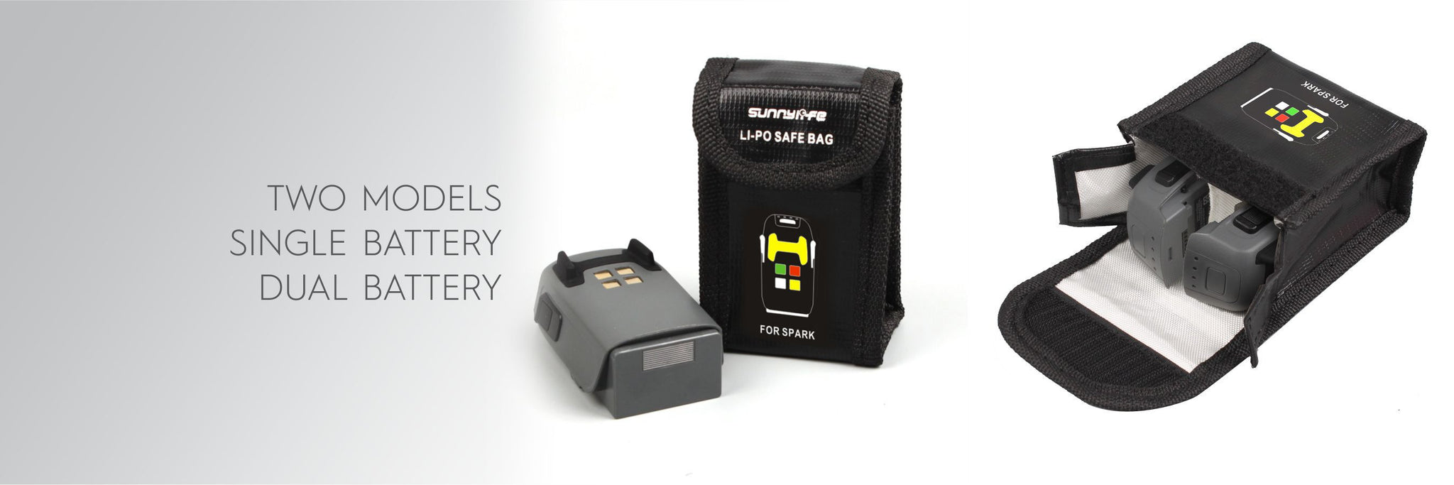 Sunnylife LiPo Safe Bag for DJI Spark Dual Battery