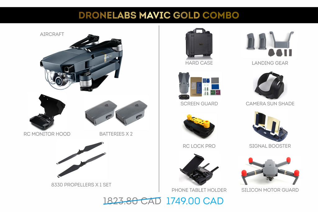 DroneLabs Mavic Gold Combo - In the Box