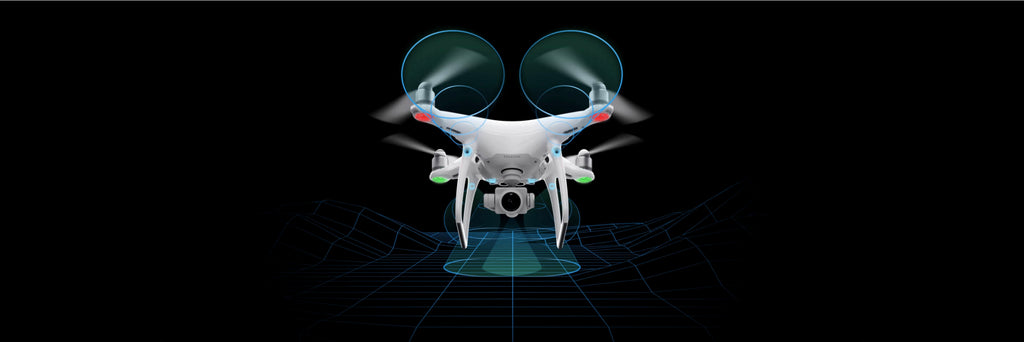 Phantom 4 Pro+5 direction sensors