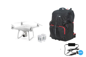 Phantom 4 + Two Extra Batteries + Phantom Backpack + Car Charger - DroneLabs.ca