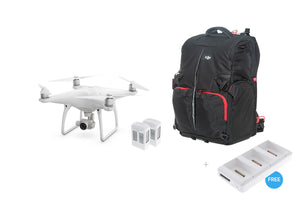 Phantom 4 + Two Extra Batteries + Phantom Backpack + Battery Charging Hub - DroneLabs.ca