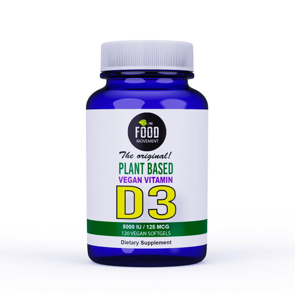 VEGAN D3 5000 IU/125 MCG - 120 SOFTGELS - NEW!
