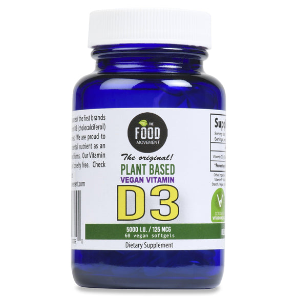 VEGAN VITAMIN D3 5000 IU (125 MCG) 60 SOFTGELS