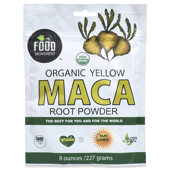 YELLOW MACA organic 8 oz pouch