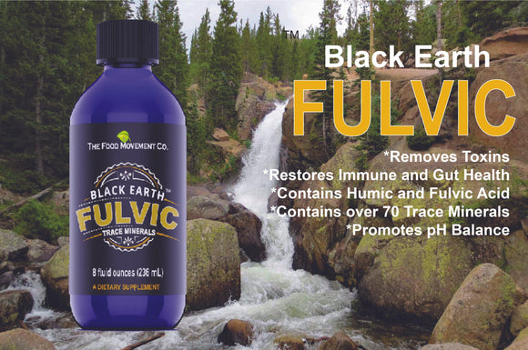 Black Earth Fulvic Trace Minerals (8 ounces)