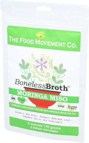 Boneless Broth - Moringa Miso 5 oz pouch - The Food Movement