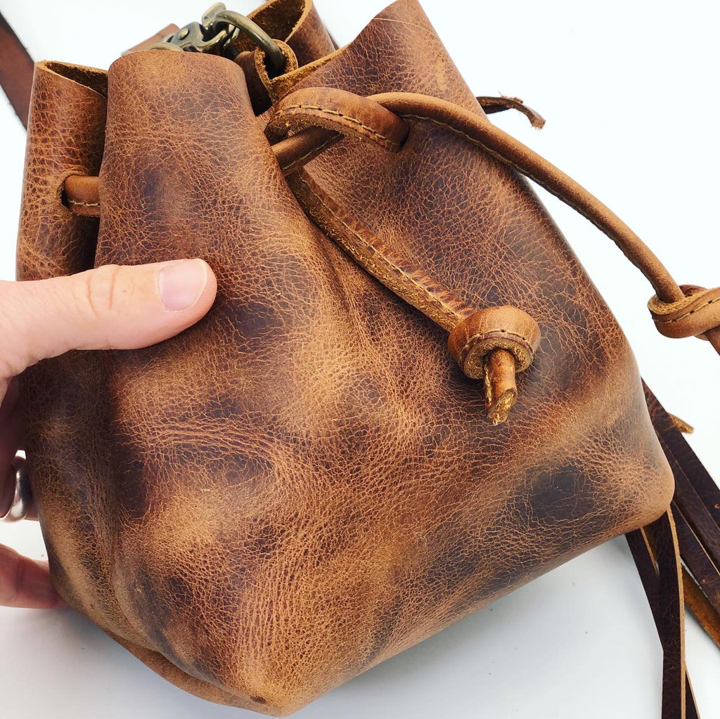 Mini Leather Bucket Bag