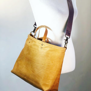 Camel Leather Lined Tote