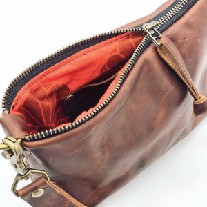 The Charlotte - small leather pouch/wristlet