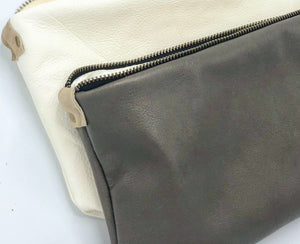 Leather Ava Clutch