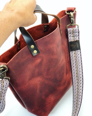 Red Kodiak Leather Mini Tote