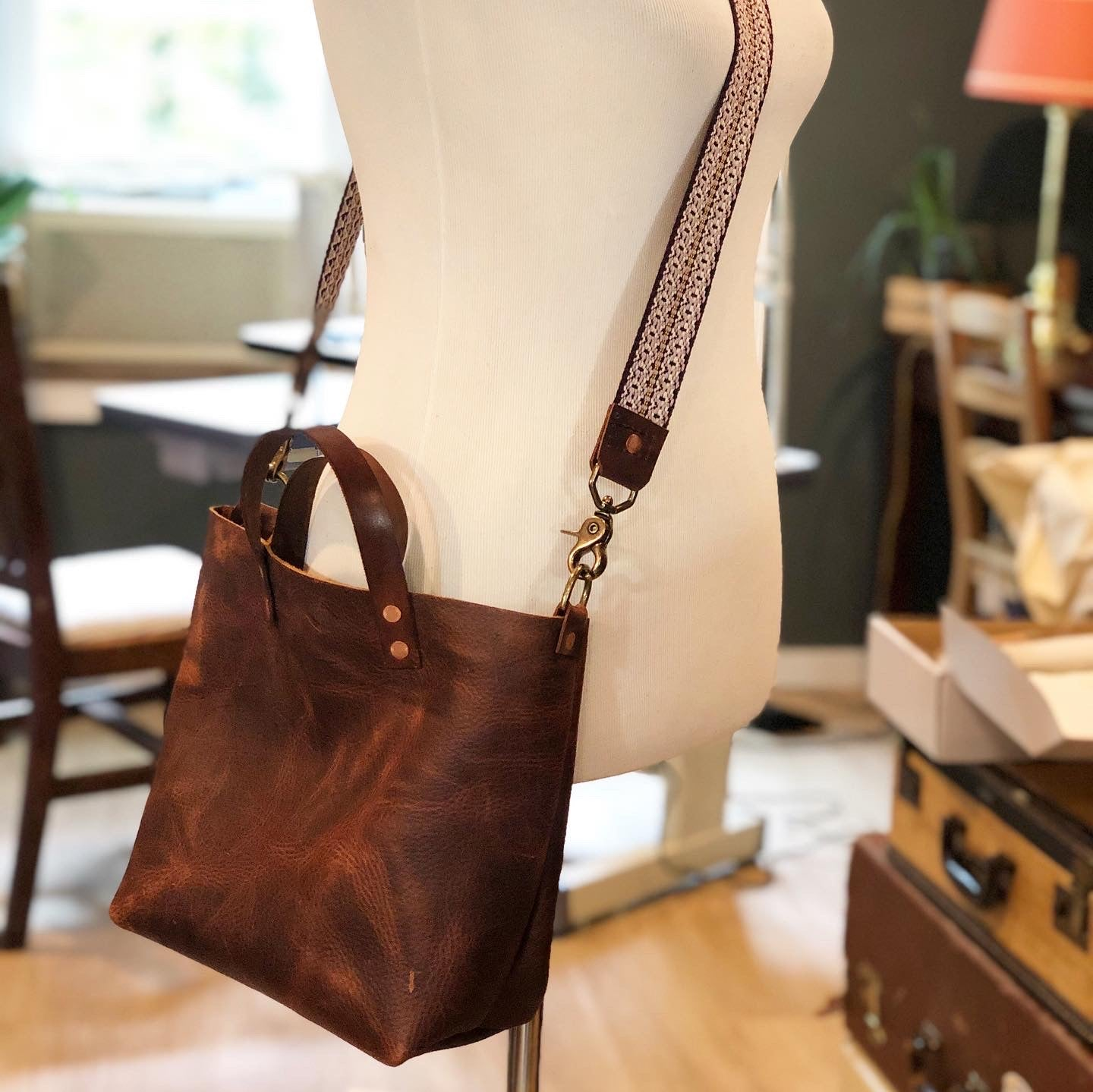 Kodiak Leather Mini Tote