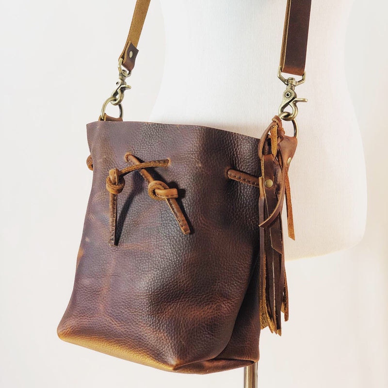 Songbird Leather Bucket Bag