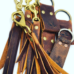 Songbird Leather Wrist Strap