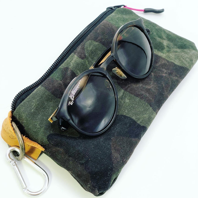 Camo Waxed Canvas Sunglasses Case/Pouch