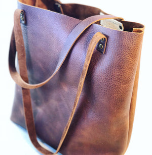 Basic Leather Tote Bag