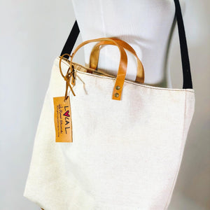 Bleached Canvas Shopping Tote