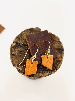 Teeny Leather Earring