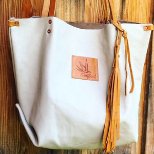 Leather Carry All Tote