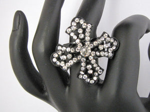 Diamante Cross Ring - Whitehot Jewellery - 3