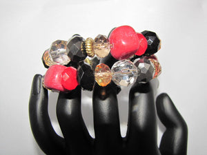 Multi Coloured Twist Bracelet - Whitehot Jewellery - 3