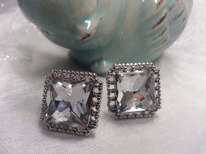 Large CZ Stud Earrings - Whitehot Jewellery - 3