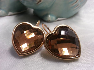 Amber Heart Earrings - Whitehot Jewellery - 3