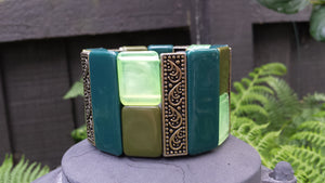 Avocado Green Cuff - Whitehot Jewellery - 3