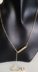 Crystal w Bar Neclace - Whitehot Jewellery - 1