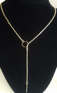 Circle w Bar Necklace - Whitehot Jewellery - 1