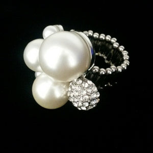 Pearl & Crystal Ring - Whitehot Jewellery - 3