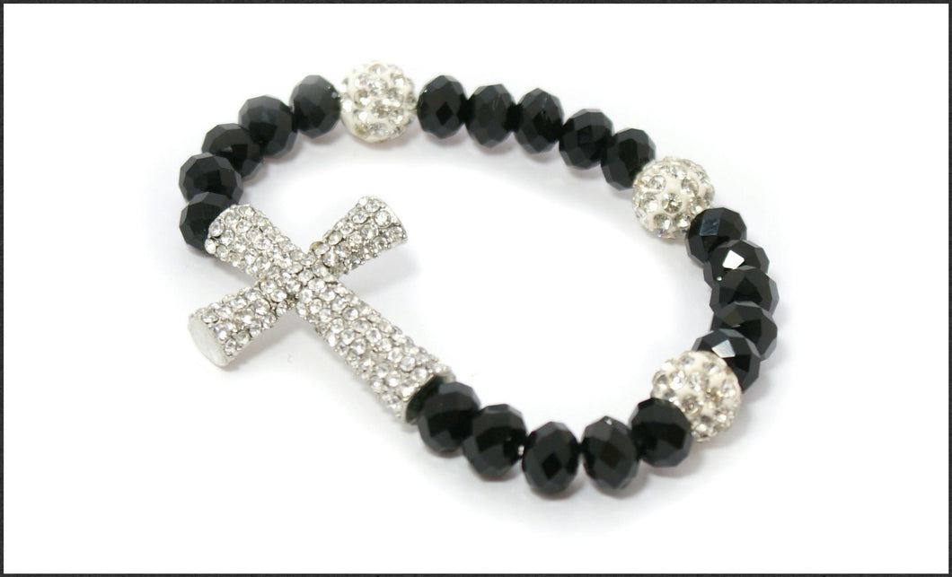 Crystal Cross Bracelet - Whitehot Jewellery - 1