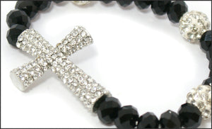Crystal Cross Bracelet - Whitehot Jewellery - 2