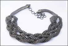 Load image into Gallery viewer, Black Braid Necklace - Whitehot Jewellery - 1