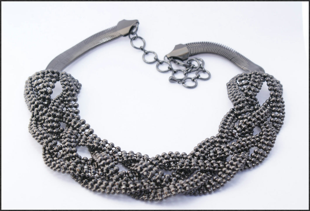 Black Braid Necklace - Whitehot Jewellery - 1
