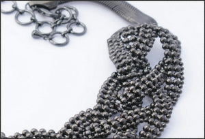 Black Braid Necklace - Whitehot Jewellery - 2