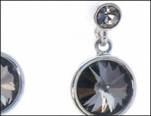 Load image into Gallery viewer, Black Crystal Drop Earrings - Whitehot Jewellery - 2