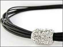 Load image into Gallery viewer, Black Leather Necklace - Whitehot Jewellery - 2