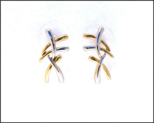 Criss Cross Earrings - Whitehot Jewellery - 1