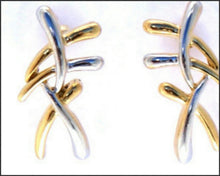 Load image into Gallery viewer, Criss Cross Earrings - Whitehot Jewellery - 2