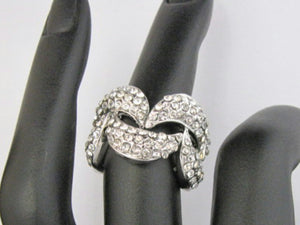Crystal Wave Ring - Whitehot Jewellery - 3