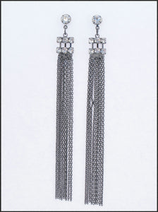 Diamante & Tassel Earrings - Whitehot Jewellery - 1