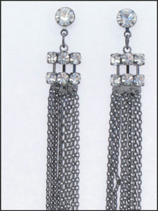 Diamante & Tassel Earrings - Whitehot Jewellery - 2