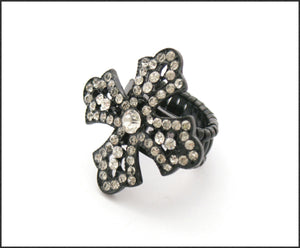 Diamante Cross Ring - Whitehot Jewellery - 1